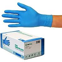 Guantes de nitrilo transparente Guantes libres de látex sin polvo Limpieza Guantes sanitarios para la cocina Cocina Limpieza Limpieza Seguridad Manejo de alimentos, 200 pcs caja (M, Azul)
