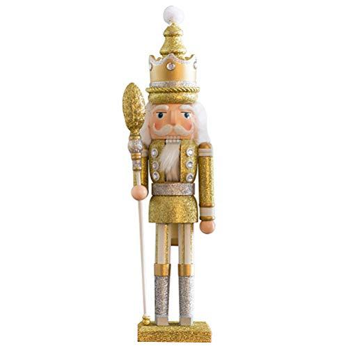 VALICLUD Nussknacker-Figur, Statuen, Puppe, Soldat, Weihnachten, Spielzeug, Dekoration (goldfarben)