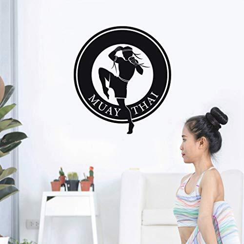 Sport Wandtattoo Boxen Club Muay Thai Taekwondo Karate Aufkleber Kick Play Auto Aufkleber für Wohnzimmer Jungen Schlafzimmer