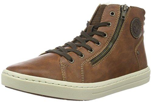 Rieker Herren 30921 Hohe Sneakers, Braun (Nuss/Moro/Cigar / 23), 43 EU