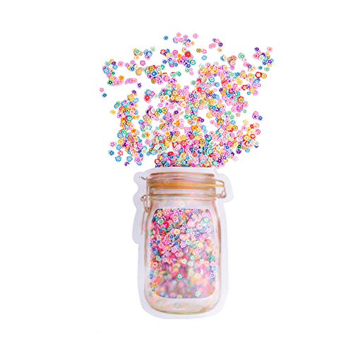XIMISHOP 3D Polymer Slices 3200 PCS, Slime Supplies/Charms Slime Acessories/Slime Add ins/Polymer Clay/DIY Nail Art Marking kit Cute Designs Decoration Arts Crafts(Flowers Style)