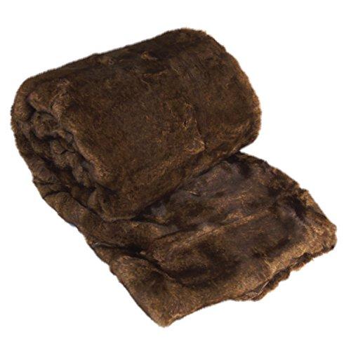 Casa suave cosas Boon de lujo manta de piel sintética, 50x 70cm, poliéster y mezcla de poliéster, Beaver, 50' x 70'