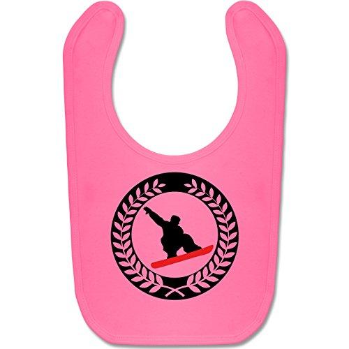 Sport Baby - Snowboard Sichel Kranz - Unisize - Pink - sichel - BZ12 - Baby Lätzchen Baumwolle