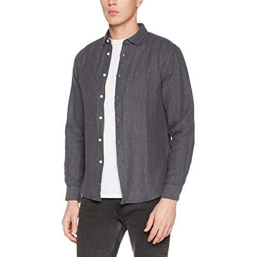 Springfield Lino Camisa Casual, Gris (Grey), Medium (Tamaño del Fabricante:M) para Hombre: Amazon.es: Ropa y accesorios