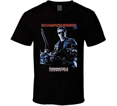 Men's Terminator 2 Judgment Day Schwarzenegger Poster T-shirt, S to 4XL