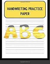 Handwriting Practice Paper: First ABC Writing Dotted Lined Sheets Notebook for Kids Students,100 pages, 8.5x11 (Paperback)