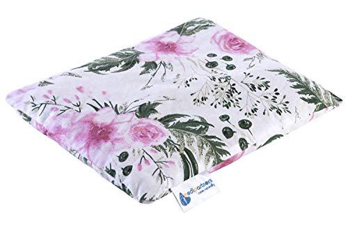 Kirschkernkissen Körnerkissen groß Wärmekissen 500g Rechteck 20x25cm Öko Natur 100% Baumwolle Medi Partners Wärme + Kältetherapie Massagetherapie (Rose Blumen)