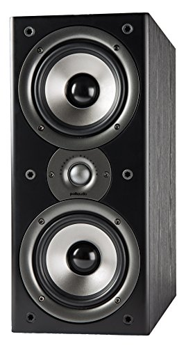 Polk Audio Monitor 40 Series Bookshelf Speaker Perfect for Small or Medium Size Rooms- Black, Pair