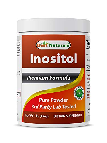Best Naturals Pure inositol Powder (Vitamin B8), 1 Lb Supports Healthy Liver Function, Promotes Cellular Detoxification & Supports Membrane Function