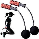Jump Rope, Fitness Speed Rope Cordless Skipping Rope Weighted Jump Rope for Gym Fat Burning Fitness, Equipment Boxing Training Skipping, Weight Loss Exercise for Adult, Kids, Women (Red)