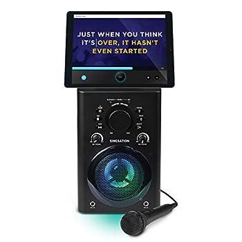 808 Karaoke Machine - Full Karaoke System with Wireless Bluetooth Speaker and Microphone Works with all Karaoke Apps via Smartphone or Tablet