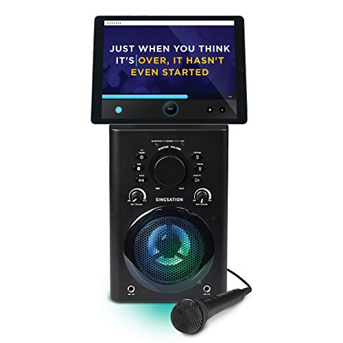 808 Karaoke Machine - Full Karaoke System with Wireless Bluetooth Speaker and Microphone. Works with all Karaoke Apps via Smartphone or Tablet