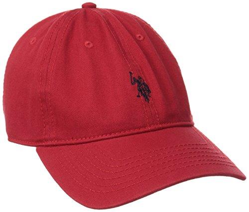 U.S. Polo Assn. Gorra Ajustable para Caballos, tamaño pequeño, Rojo, Talla única