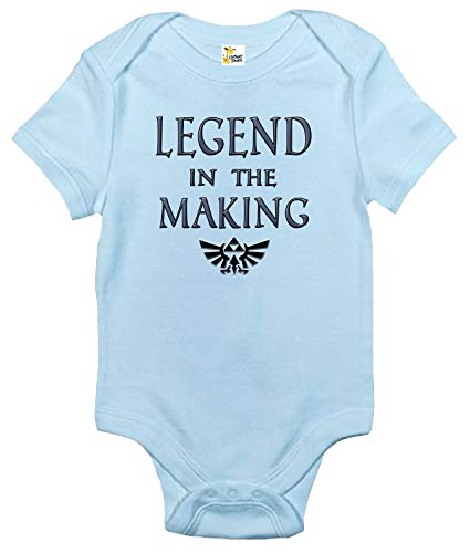 Legend in The Making Baby Bodysuit Cute Zelda Baby Clothes for Boys and Girls (3-6 Months, Light Blue)