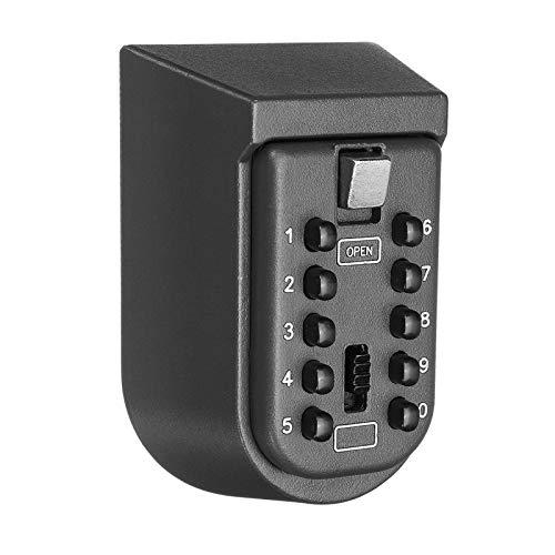 Key BoxOutdoor - Caja de almacenamiento para llaves (10 digitales, combinación de contraseñas)