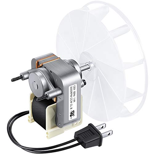 Bathroom Vent Fan Motor and Blower Wheel Replacement 99080166 Electric Motors Kit Compatible with Nutone Broan 70CFM 120V
