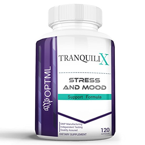 TranquiliX Anxiety and Stress Relief Formula, Advanced Anti-Anxiety Mood Support, Sleep Aid, Reduce Panic Attacks, Increase Calm, Happiness, and Relaxation, Stress Reduction (120 Capsules)
