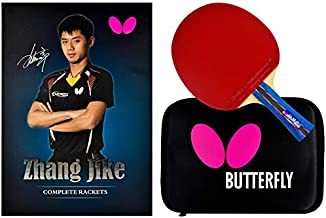 Butterfly Zhang Jike Box Set Shakehand Table Tennis Racket / China Series / Racket and Case Set Named After The 2-Time World Champion / Recommended For Intermediate Level Players