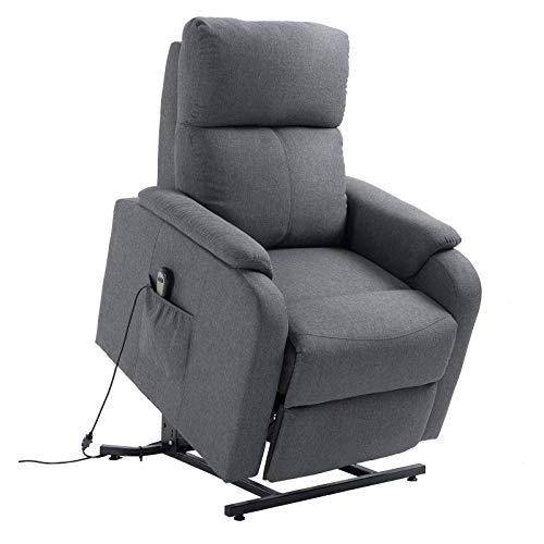CARO-Möbel Fernsehsessel RetireRelaxsessel Ruhe TV Sessel mit elektrischer Liege- und Aufstehfunktion in grau