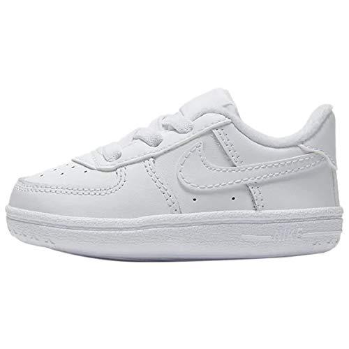 Nike Baby Jungen Force 1 Crib Wanderschuh, Blanco, 19.5 EU