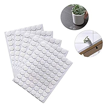 BUSOHA Clear Removable Sticky Adhesive Putty Reusable Transparent Double-Sided Round Nano Gel Mat for Wall Metal Glass Ceramic Wood - 350 PCS