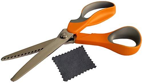 STYLEETE Tijeras Dentadas [Calidad Profesional] – Tijeras Zig Zag para Tela Ergonomía de Acero Inoxidable – Tijeras Costura para actividades creativas