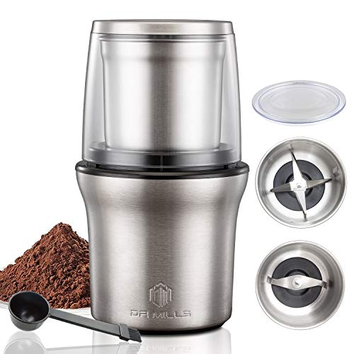 DR MILLS DM-7412M Electric Dried Spice and Coffee Grinder, Grinder and chopper,removable cup, diswash free, Blade & cup made with SUS304 stianlees metal