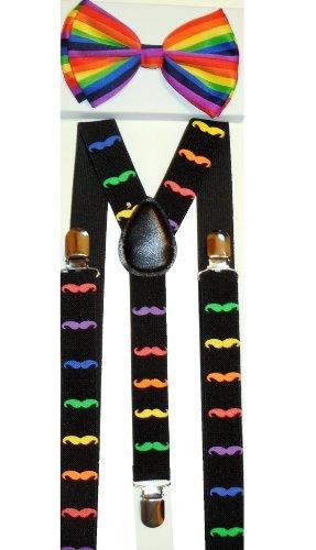 Kids World Of Toys-Men's moustache Suspendersbow Rotule réglable - Noir - Taille unique