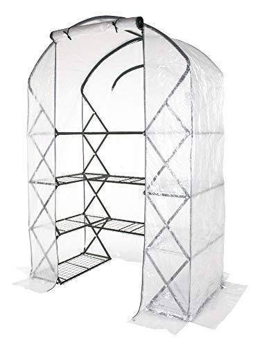 VERDELOOK Serra ad Arco richiudibile con Telo in PE per Giardino e Balcone, 142x71 h203 cm