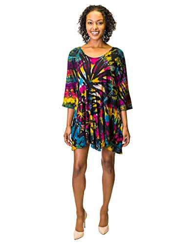 stunning tie dye tunic dress for women