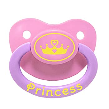 Littletude Adult Sized Pacifier Dummy for Adult Babies Large Handle Large Shield Princess