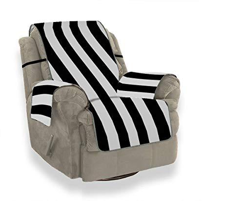 JOCHUAN Striped Black White Sofa Bottom Cushion Rocking Chair Slipcover Kids Sofa Cover Furniture Protector For Pets, Kids, Cats, Sofa