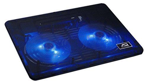 "Advance VE-NB35 - Base de refrigeración para Ordenador portátil de 15"" (2 x Ventiladores de 125 mm, LED Azul), Color Negro"