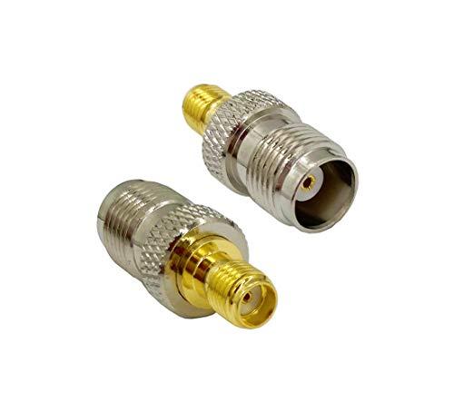 Vecys Adaptador de Antena 4G Adaptador SMA Adaptador de Enchufe TNC a SMA Convertidor de SMA a TNC para 2G 3G 4G LTE Antena Router CB Antena WiFi Radio WiMax Antenas Celulares