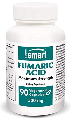 Supersmart MrSmart - Acido fumarico - Questo ingrediente presente naturalmente nella pelle è utilizzato nel trattamento nutrizionale della psoriasi. 500 mg, 90 capsule.