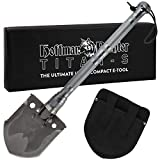 Hoffman Richter Titan-S Folding Shovel with Machete, Saw, Knife, Bottle Opener, Firestarter, and Compass for Camping, Survival, Emergency Use