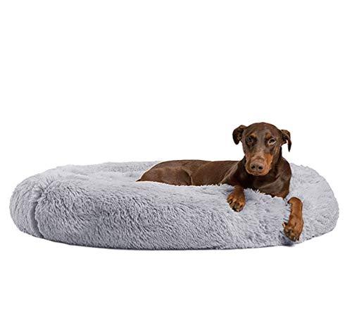 Ailotrd waschbares flauschiges Haustierbett, Hundebett, Katzenhöhle, Donut-förmig, Kuschelkissen mit Außenbezug für kleine, mittelgroße bis extra-große Hunde