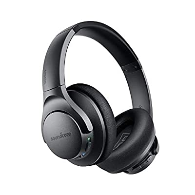 Anker Soundcore Life Q20 Hybrid Active Noise Cancelling Headphones, Wireless Over Ear Bluetooth Headphones, 40H Playtime, Hi-Res Audio, Deep Bass, Memory Foam Ear Cups, for Travel Home Office from Anker