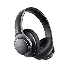 Soundcore Life Q20 Bluetooth Kopfhörer, Aktive Geräuschunterdrückung, 40 St. Wiedergabezeit, Hi-Res Audio, Intensiver Bass, kabellose Kopfhörer für Homeoffice, Online-Unterricht, Konferenzen (Schwarz)©Amazon