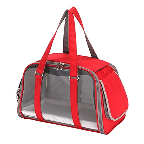 Yoommd Transportín plegable para perros con alfombrilla, transportador para perros pequeños, transportador portátil para mascotas adecuado para gatos y perros pequeños y medianos.