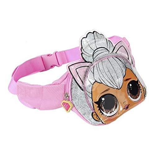 L.O.L. Surprise ! 3D Puppen Hüfttasche für Mädchen und Jugendliche | Confetti-Pop-Kollektion mit Queen Bee, Merbaby, Kitty Queen und Unicorn | Handliche Gürteltaschen oder Schultasche (Katze)