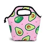 Bolsas de almuerzo aisladas con aguacate verde con estilo de mayor capacidad para las mujeres – Fiambrera resistente al agua para viajes, picnic, trabajo, escuela