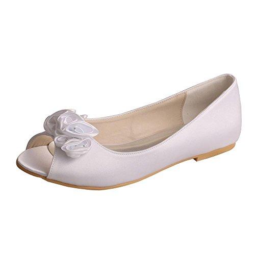 Wedopus , Damen Peep Toes , Weiß - weiß - Größe: 37.5