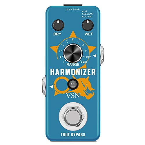 VSN Guitar Harmonizer Effect Pedal Digital Octave Effects Pedals Harmony Pitch Shifter Detune For Electric Guitar Bass Mini Size True Bypass