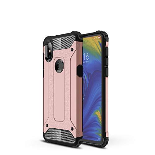 Botongda Funda Xiaomi Mi Mix 3 5G,Carcasa Resistente a los Golpes y a los arañazos con Tapa Posterior con una combinación de PC Resistente y TPU Suave para Xiaomi Mi Mix 3 5G(Oro Rosa)
