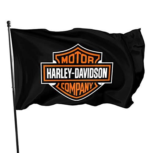 N / A Harley Davidson Fahnen Flagge Flag Banner Polyester Material Gartenbalkon Gartendekoration Im Freien 90x150cm