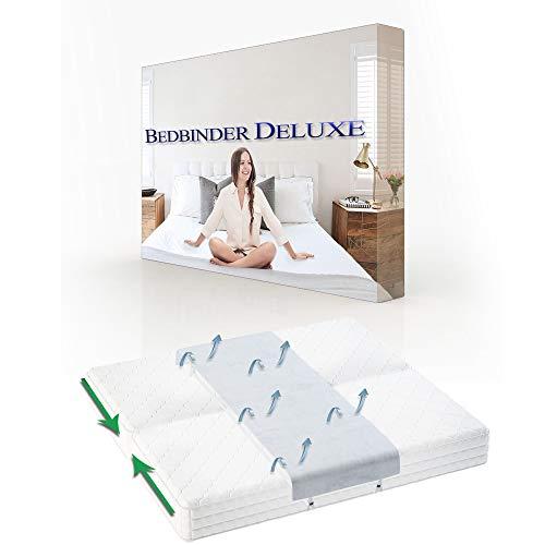 BEDBINDERS Liebesbrücke Für Matratzen Weiß. Dieser Matratzenkeil Verbindet Zwei Matratzen Zu Einer Großen Liege-Fläche und Beendet Das Verrutschen