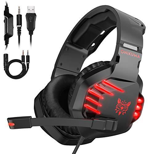 Headset Gamer Fone Ps4 PC Xbox One Videogame K17 Vermelho