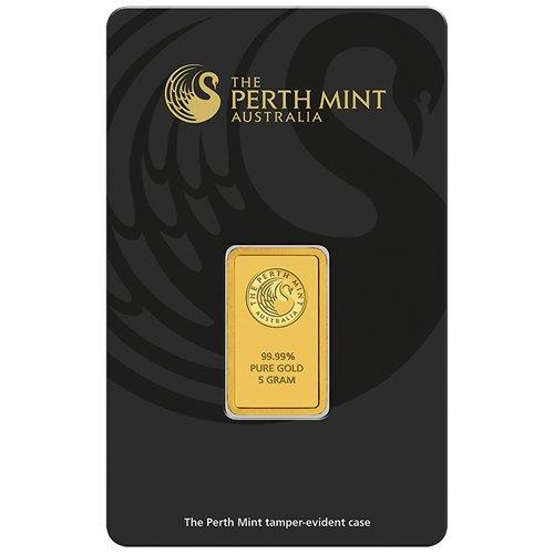 Perth Mint 5g Gramm Goldbarren 999.9 Känguru