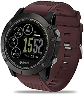 Zeblaze Super Lightweight Vibe 3 HR Smart Watch, Rugged Inside Out HR Monitor 3D UI All-Day Activity Record 1.22' IPS IP67 Waterproof Smart Watch for Activity Tracker Red